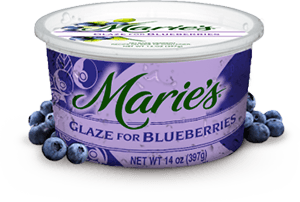 Try Marie's Blueberry Glaze.