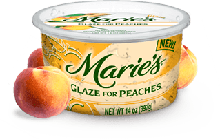 Try Marie's Peach Glaze.