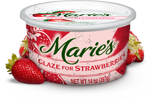 Try Marie's Strawberry Glaze.