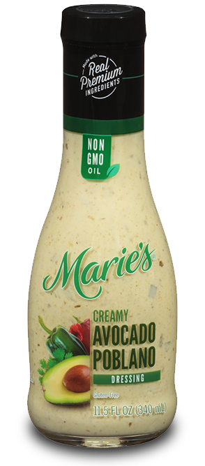 Try Marie's Creamy Avocado Poblano dressing.
