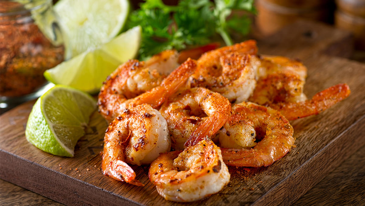 Poppy Seed Shrimp is made with Marie's Poppy Seed Dressing.