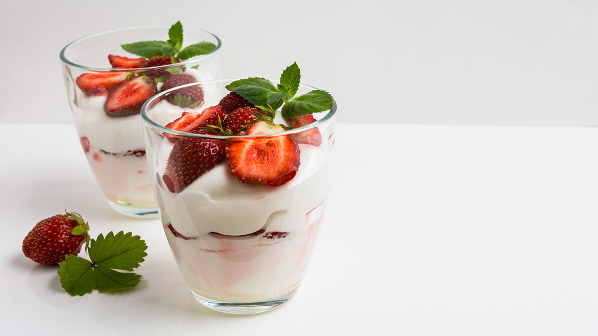 Strawberry Cheesecake Parfaits uses Marie's Strawberry Glaze.